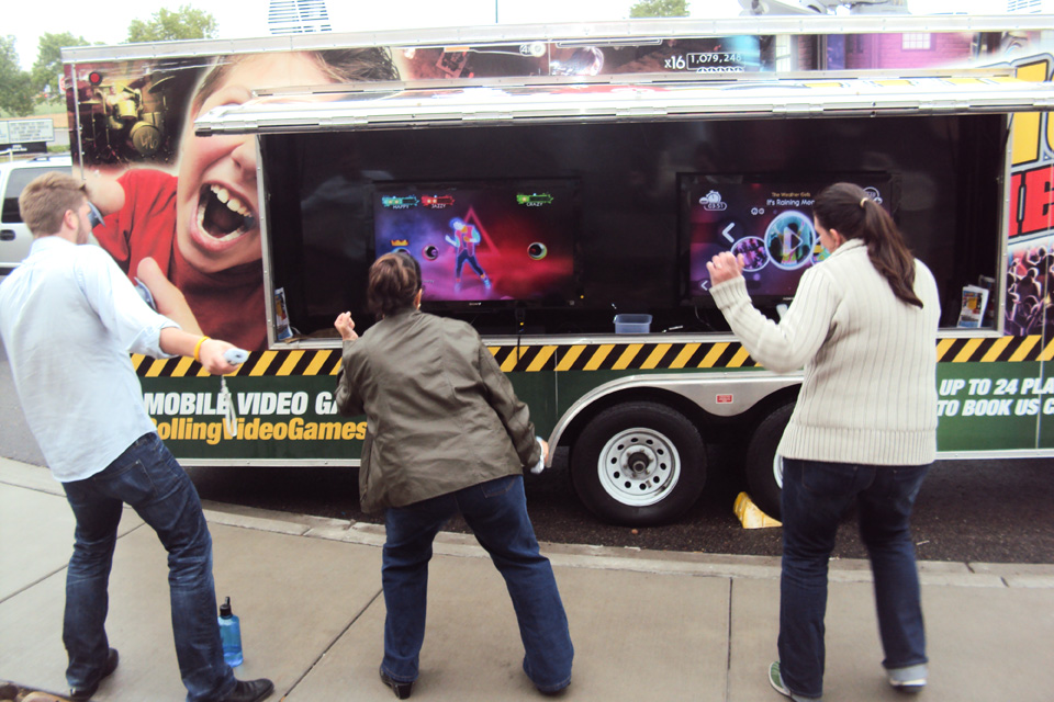 Chicagoland video game bus and game truck party