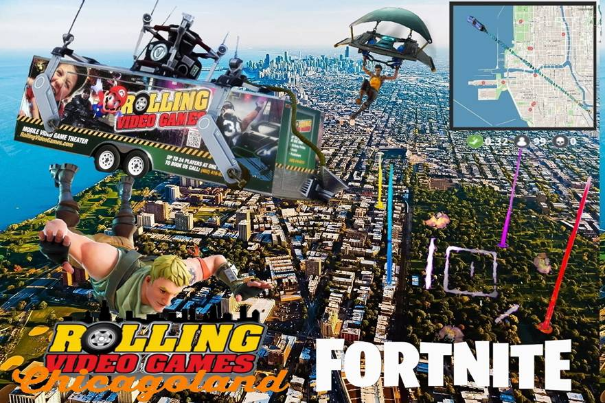 Fortnite party! Online gaming with Rolling Video Games of Chicagoland
